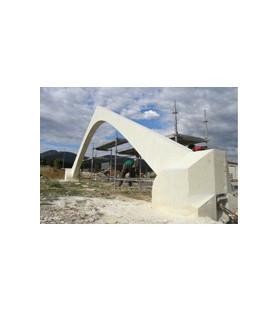 bâtiments expérimentaux en pierre de taille avec arc diaphragme