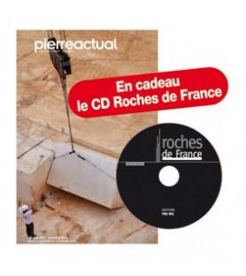 Abonnement 1 an Pierre Actual (cadeau : le CDRom ROCHES DE FRANCE) pour les résidents étrangers