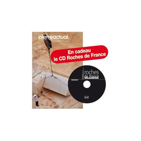 Etranger Abonnement couplé 1 an Pierre Actual (papier + numérique). Cadeau CD Roches de France