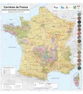 Etranger Abonnement PIERRE ACTUAL 1 an. En cadeau, la carte de France des carrières de roches ornementales